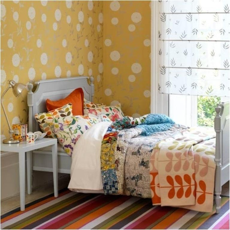 colorful teen girls bedroom