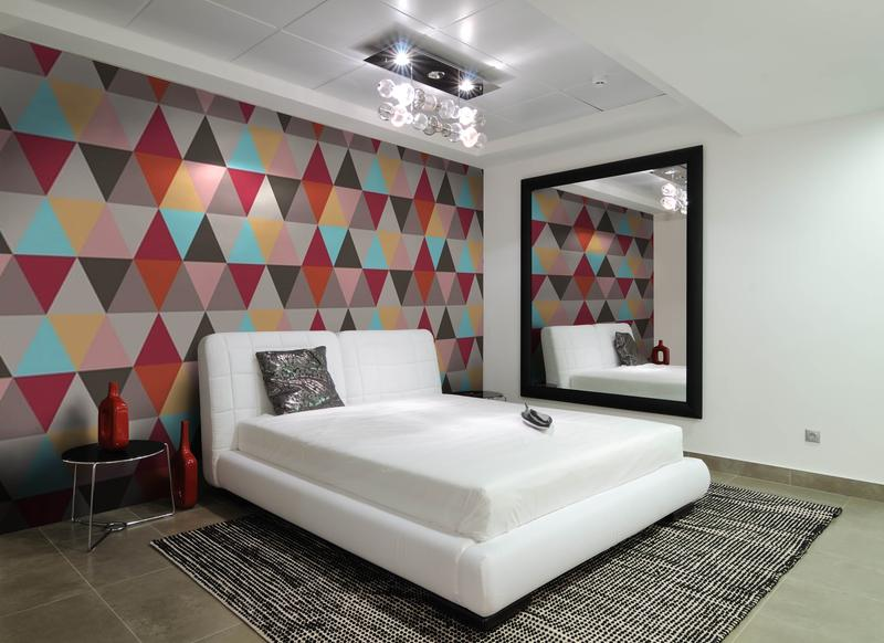 15 Captivating Bedrooms with Geometric Wallpaper Ideas. 15 Captivating Bedrooms with Geometric Wallpaper Ideas   Rilane