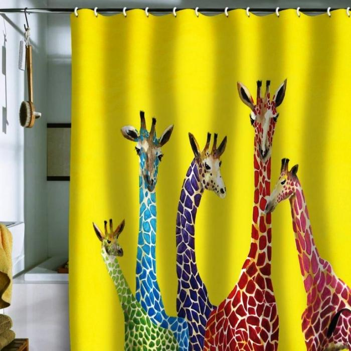 15 wonderful themed shower curtains for kids bathroom - Colorful Shower Curtains