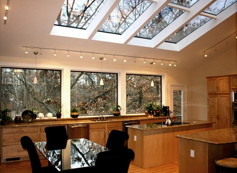 Cottage Kitchen with Skylight