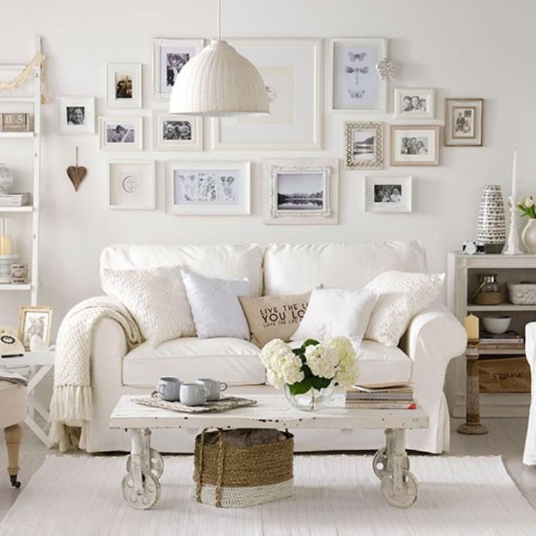 All White Living Room 15 serene all white living room design ideas - rilane
