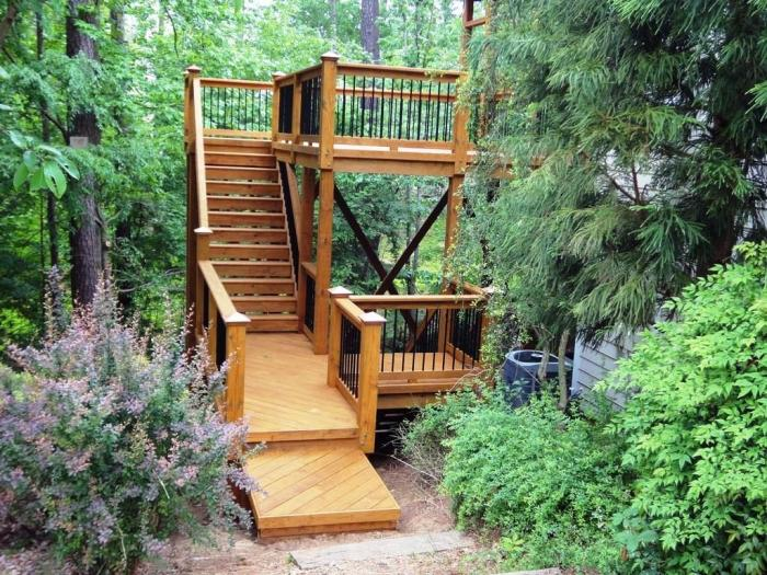 15 natural and beautiful outdoor staircases rilane for External timber decking