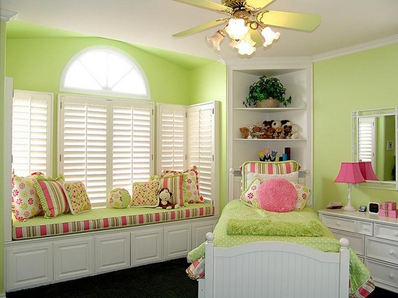 cute pink and green bedroom - Green Bedroom Design