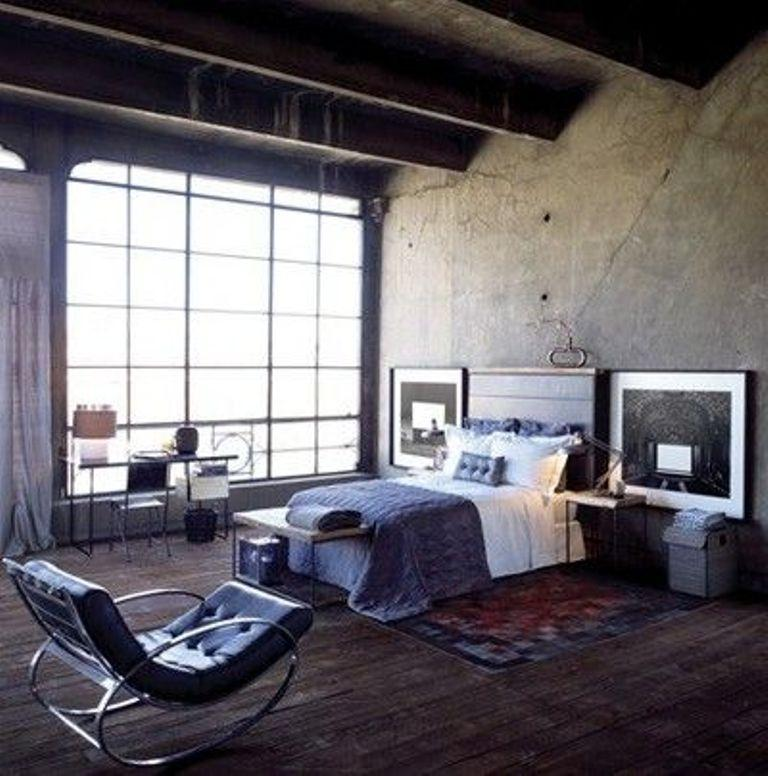 Dark Industrial Bedroom. 15 Bold Industrial Bedroom Design Ideas   Rilane