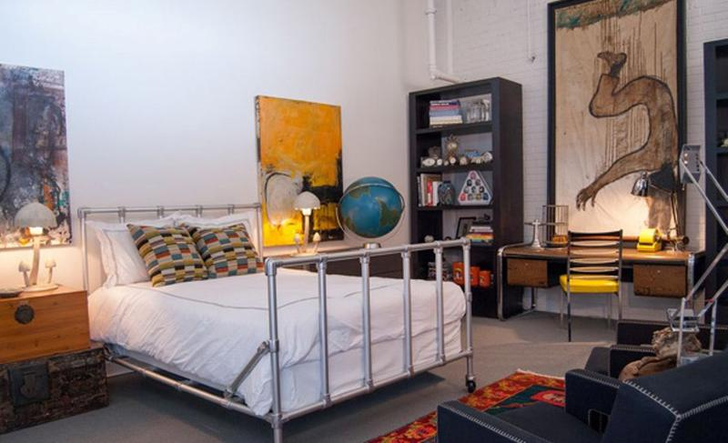 Eclectic Industrial Bedroom