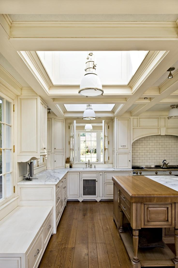 15 Incredibly Airy Kitchen Designs with Skylights - Rilane