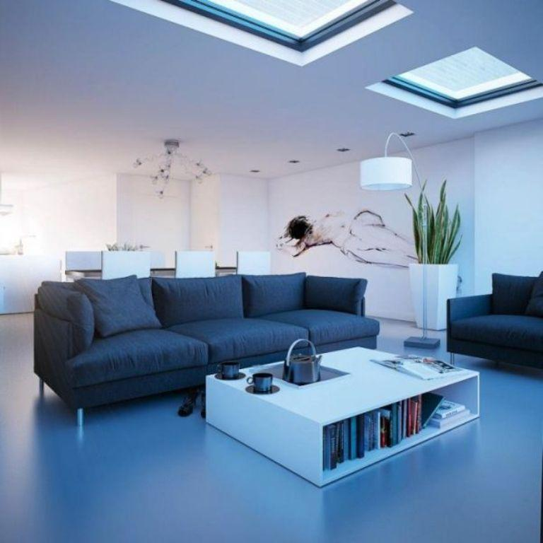 15 Astonishingly Bright Living Rooms with Skylight