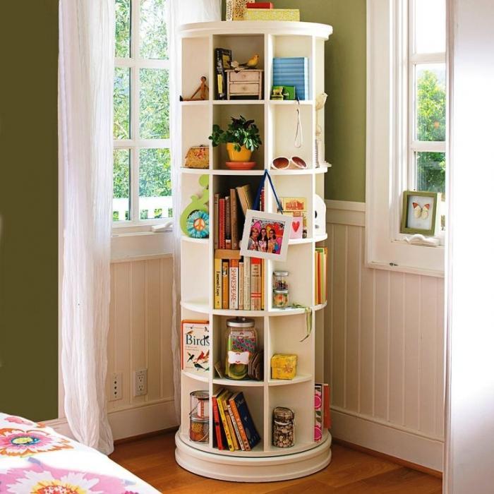 Great White Bookshelf Tower - 10 Great And Colorful Kids Bookshelves - Rilane