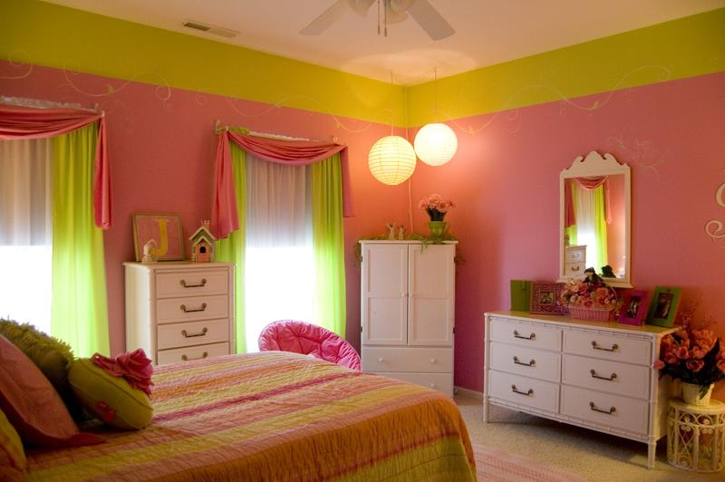 Exceptionnel Impressive Green And Pink Girlu0027s Bedroom