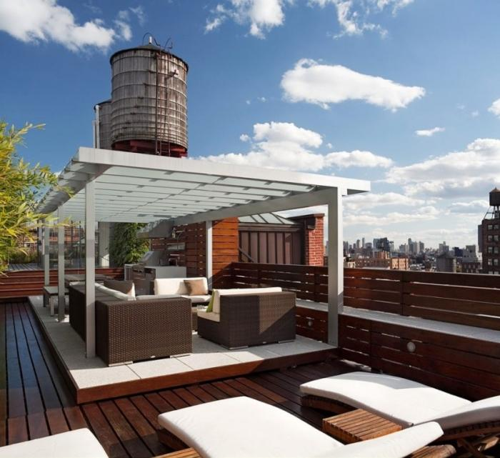 10 great roof terrace designs rilane for Roof deck design