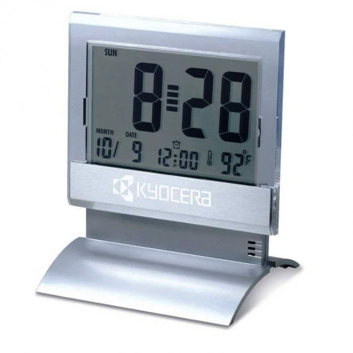Large Lcd Digital Desk Clock With Thermometer And Alarm
