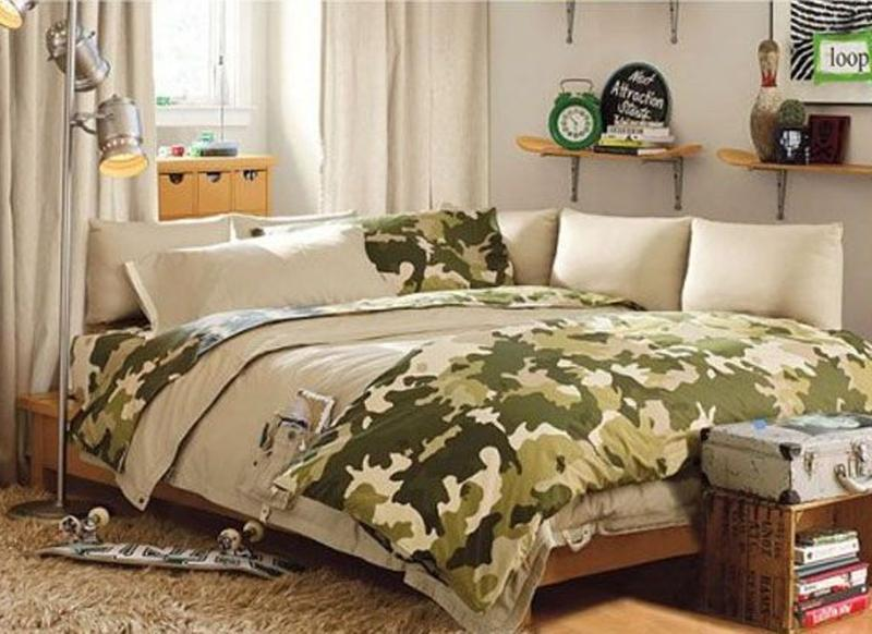 Military Man Teen Boy Bedroom