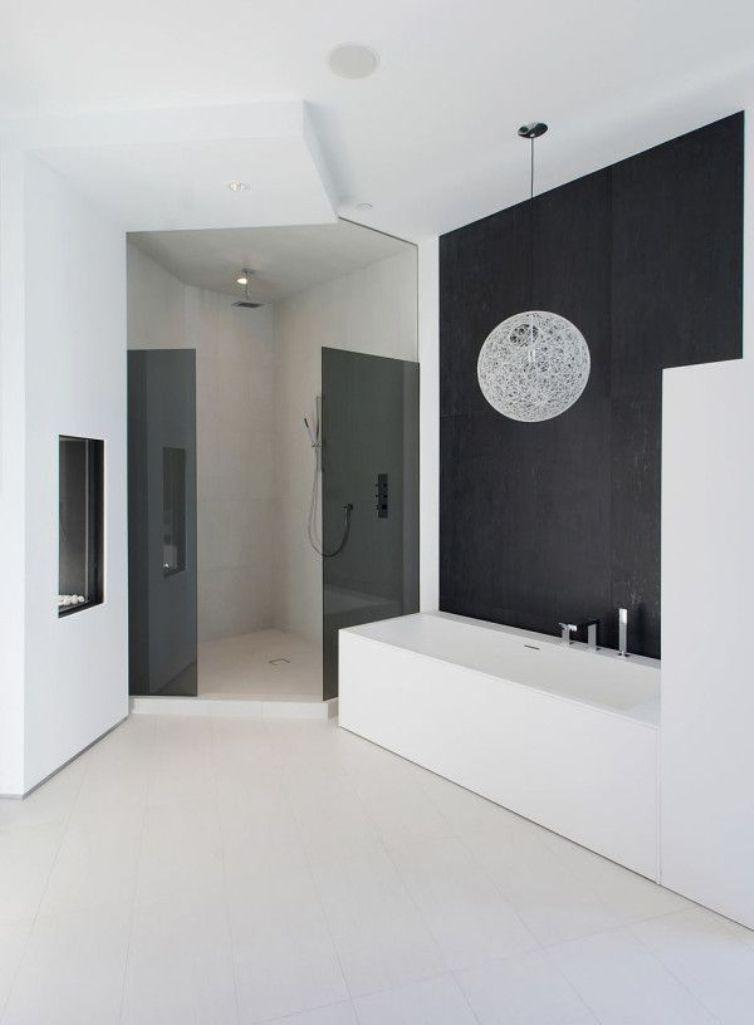 15 Contemporary Black and White Bathroom Ideas