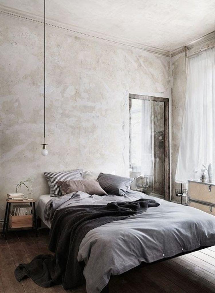 Charming Minimalist Industrial Bedroom