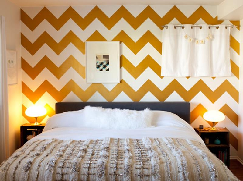 15 captivating bedrooms with geometric wallpaper ideas rilane