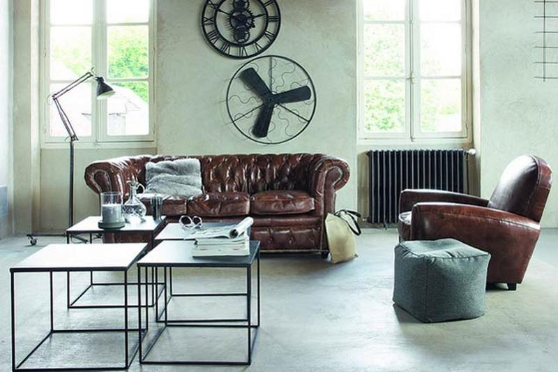 modern industrial living room - Industrial Living Room Decor
