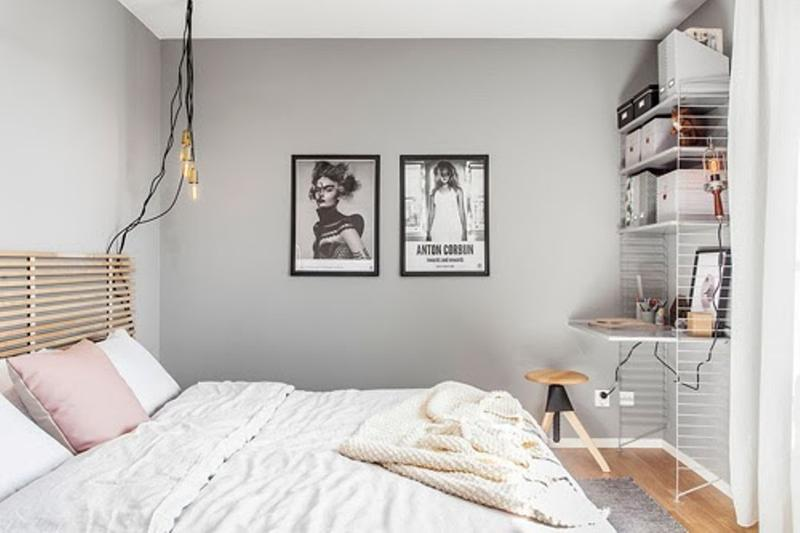 Modern Pastel Gray Bedroom