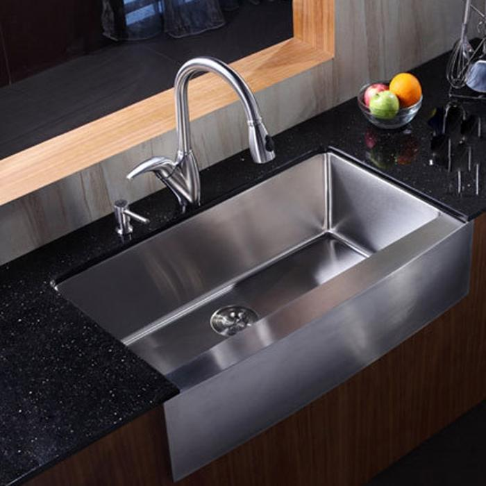 modern rectangular stainless steel kitchen sink