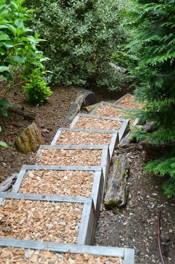 Superb Natural Brown Leaves Outdoor Stairs