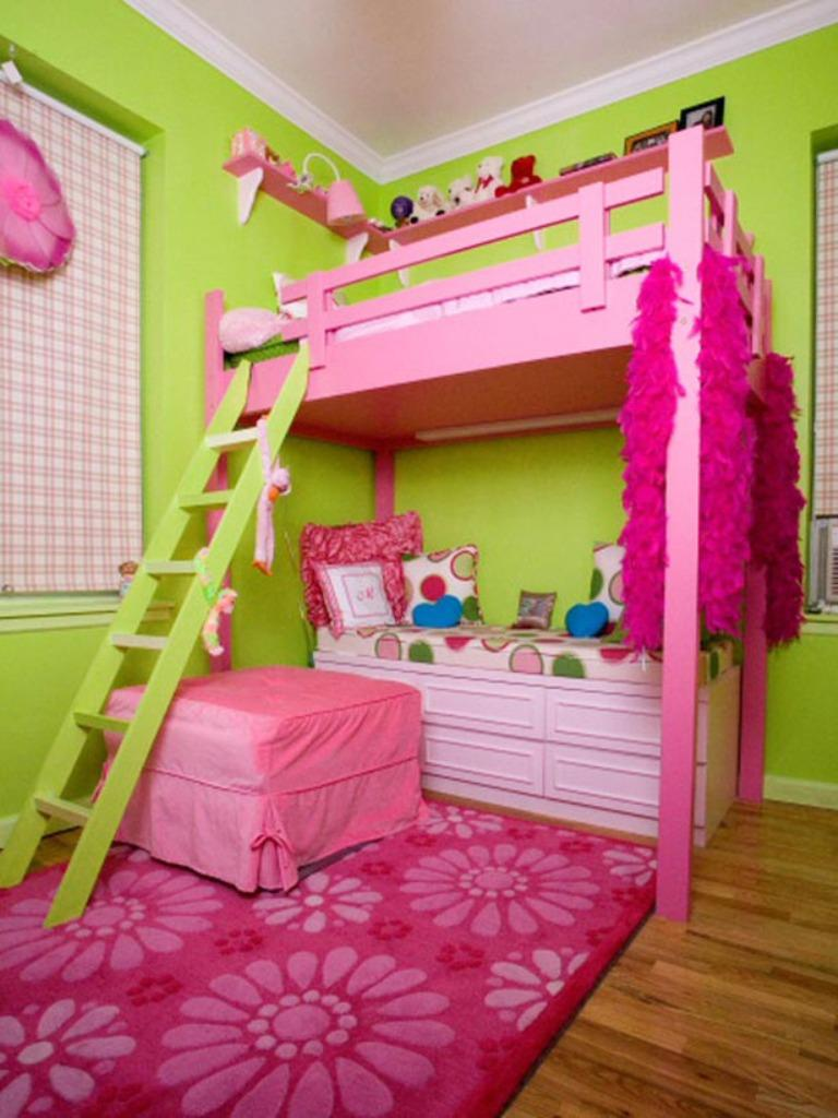 Neon Pink And Green Bedroom