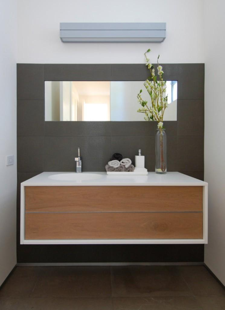 bamboo and marble floating bathroom vanity - Vanity Design Ideas