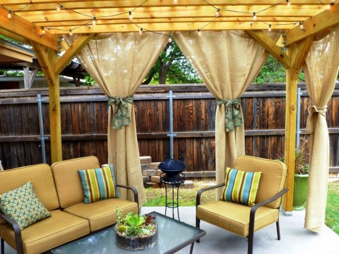 10 Relaxing Outdoor Curtain Designs - Rilane