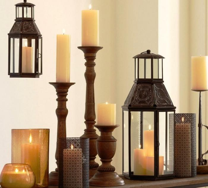 15 awesome and decorative outdoor lanterns rilane for Oxford turned wood candle holders