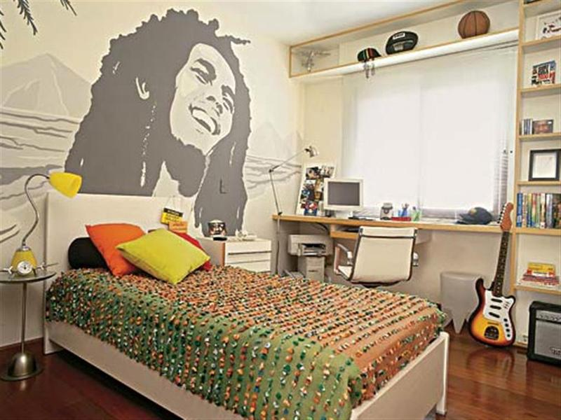 Teen Boy Bedroom Ideas Part - 30: Reggae Fan Teen Boyu0027s Bedroom