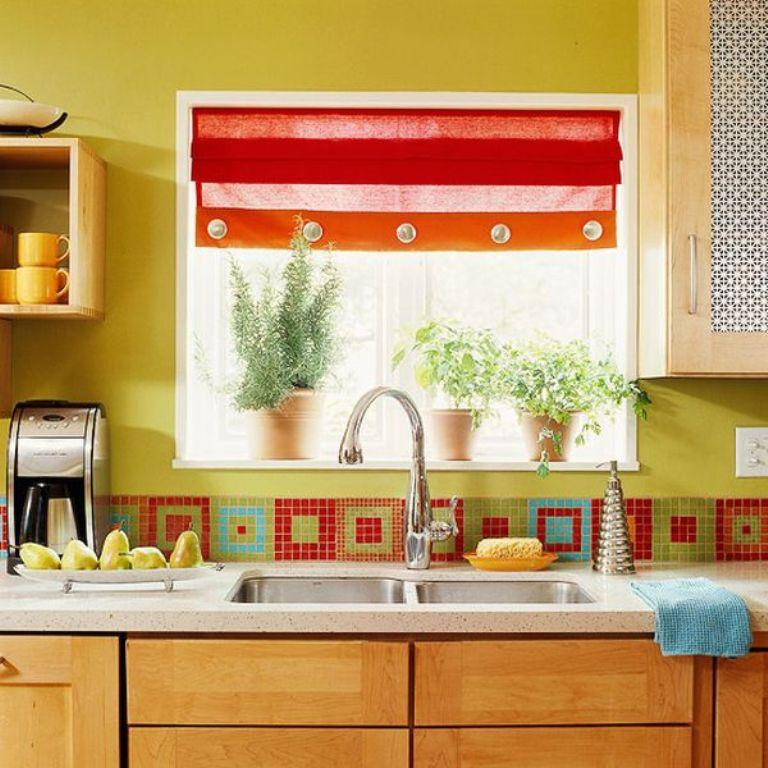 Red And Green Kitchen