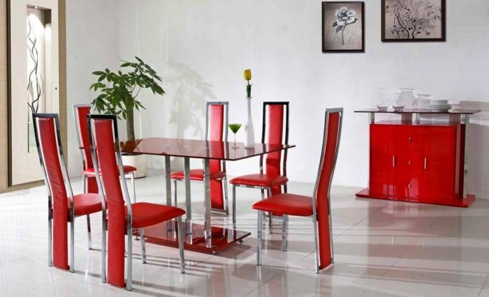 10 modern dining room sets with awesome upholstery rilane. Black Bedroom Furniture Sets. Home Design Ideas