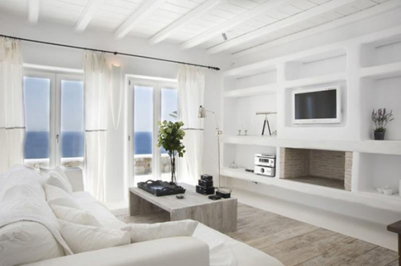 Relaxing All White Living Room