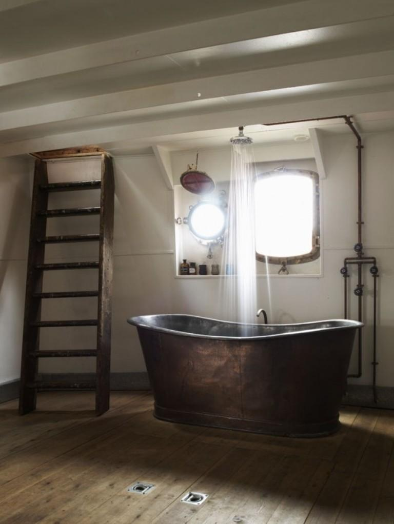 15 Cool Industrial Bathroom Design Ideas - Rilane