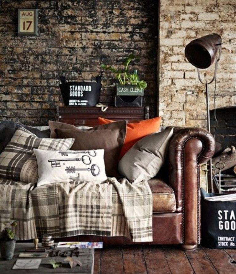 Beautiful Rustic Industrial Living Room