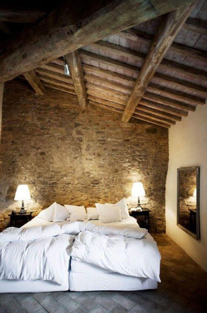 15 Natural Bedrooms With Stacked Stone Wall Rilane
