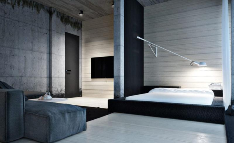 Sleek Industrial Bedroom