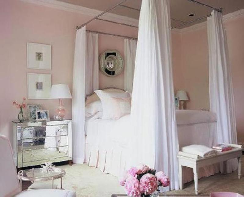 Sophisticated Pastel Pink Bedroom