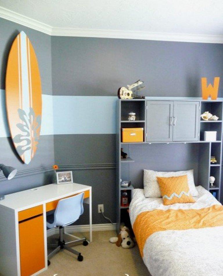 Surf Boy Teen Bedroom. 15 Inspiring and Fun Teen Boy Bedroom Design Ideas   Rilane