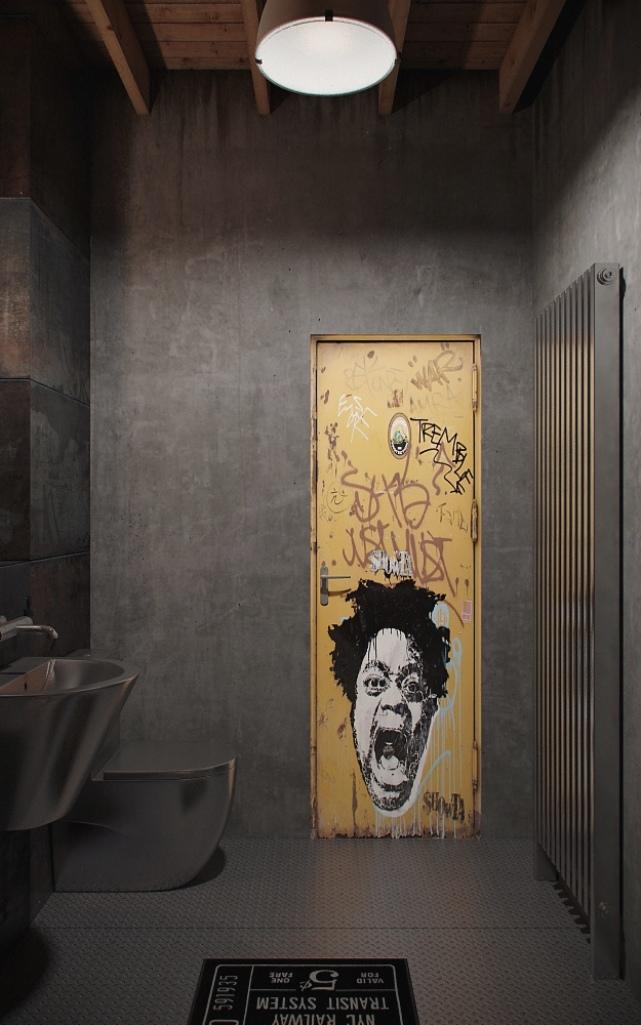 Unique Industrial Bathroom. 15 Cool Industrial Bathroom Design Ideas   Rilane
