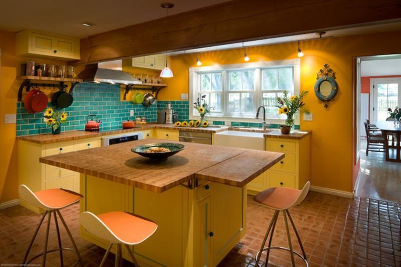 15 unique kitchen designs with bold color scheme rilane. Black Bedroom Furniture Sets. Home Design Ideas