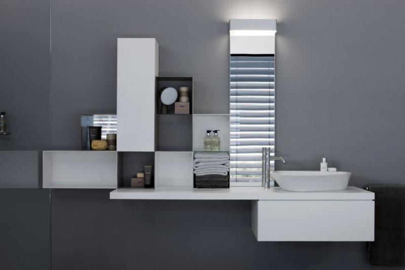 Sleek Floating Bathroom Vanity Design Ideas Rilane - Free hanging bathroom vanity