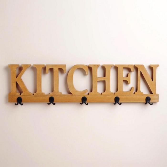 5-Hook Kitchen Wall Rack