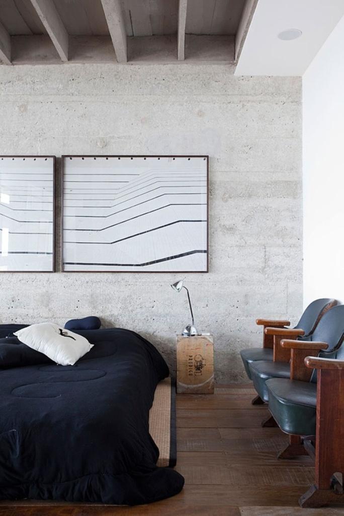 20 Bold Bedroom Designs with Concrete WallsRilane