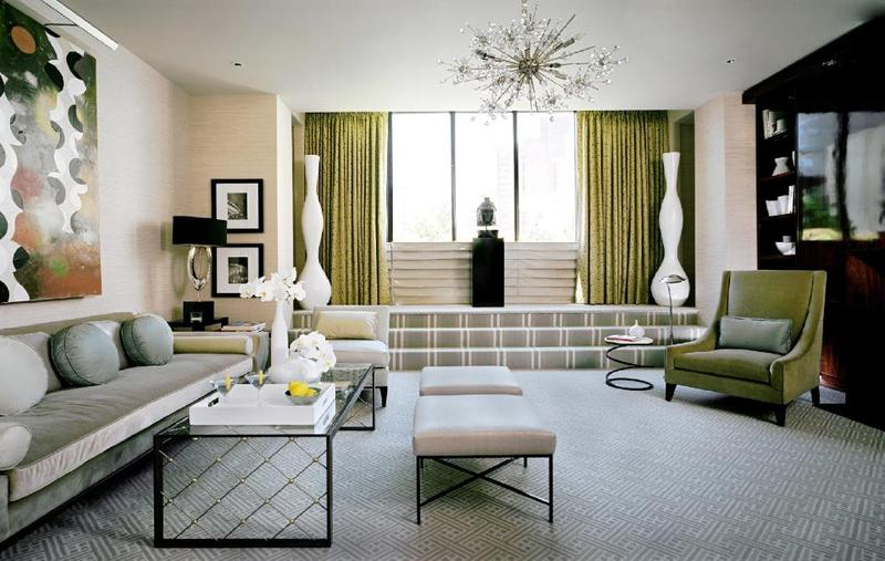 Bold Art-Deco Living Room. Image Source: Design Shuffle