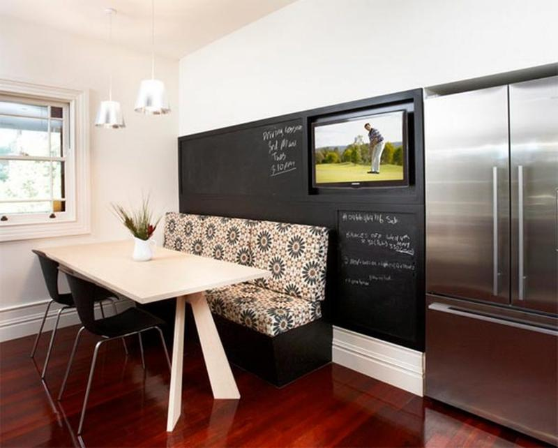 Bold Kitchen With Chalkboard Wall