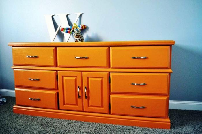 Image gallery orange dresser for Affordable furniture orange tx