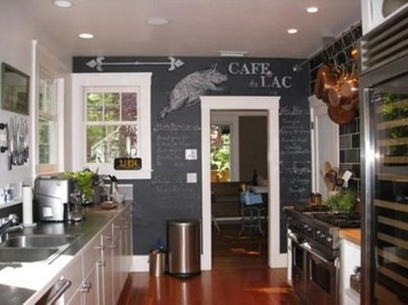Amazing 15 Whimsical Kitchen Designs With Chalkboard Wall