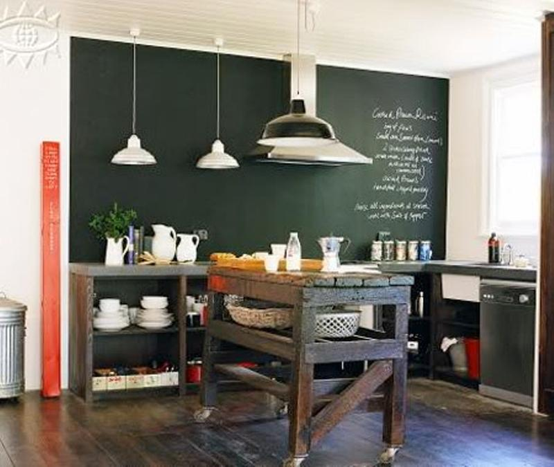 15 whimsical kitchen designs with chalkboard wall rilane for Blackboard design ideas