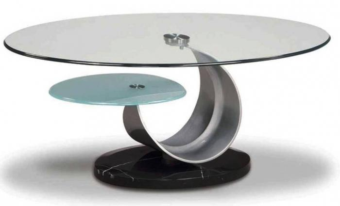 Circular Unique Contemporary Coffee Glass Table Design