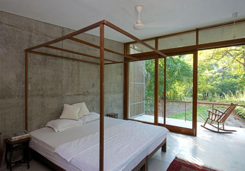 Natural Bedroom 20 Bold Bedroom Designs With Concrete Walls  Rilane