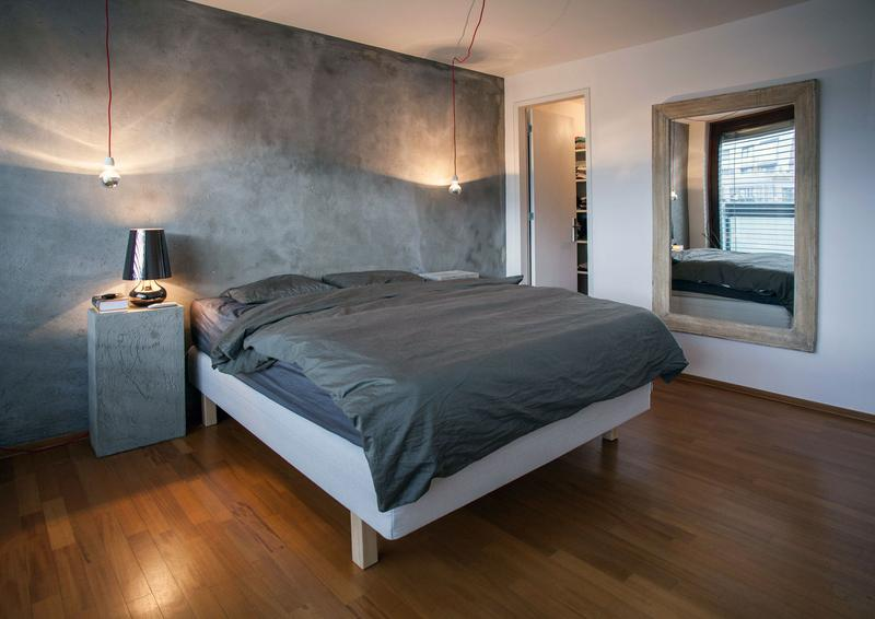 20 Bold Bedroom Designs with Concrete Walls